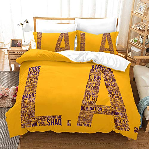 FAIEK Duvet cover Solid color bed linings basketball fan Basketball la,King 200X200CM