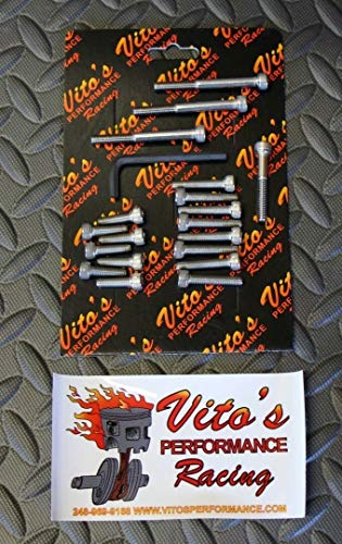 Vito's Performance Stainless Bolt Kit Yamaha Banshee: Clutch And Stator Cover