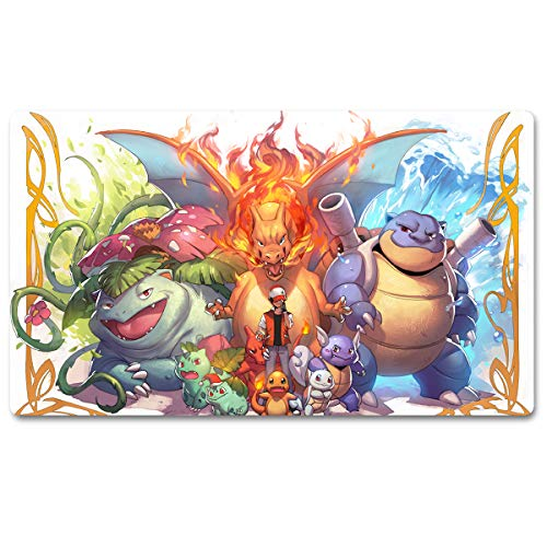 648624 - Brettspiel Spielmatte für Pokemon Tischmatte Spiele Größe 60x35cm Mousepad Spielmatte für Yugioh Magic The Gathering