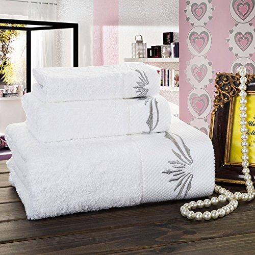 /100/% coton Serviette de bain b/éb/é fille Blanc Rose 50/x 100/cm Mathilde M/