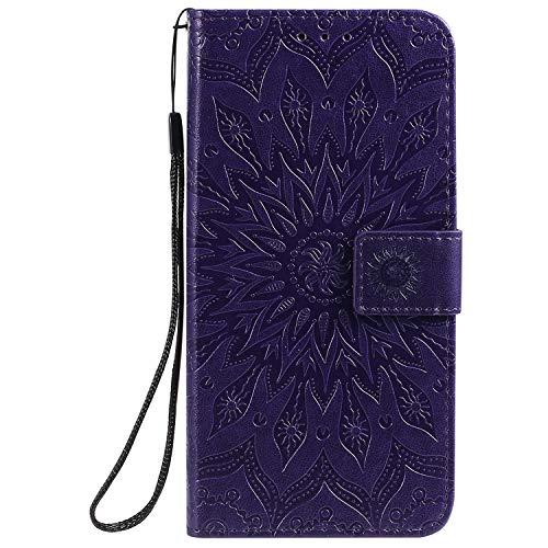 Jeewi Hülle für Vivo V11/V11 Pro/V11i/Y97 Hülle Handyhülle [Standfunktion] [Kartenfach] [Magnetverschluss] Tasche Etui Schutzhülle lederhülle flip case für Vivo V11 Pro - JEKT032690 Violett