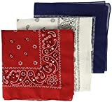 Levi's Men's Printed Bandana Set,Red, White, Blue,One Size