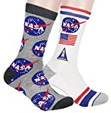 Buzz Aldrin NASA Meatball Logo and Symbols Crew Socks 2 Pair Calf High