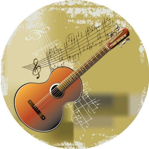Tortenaufleger Tortenfoto Aufleger Foto Bild Gitarre rund ca. 20 cm (6sgs) *NEU*OVP*