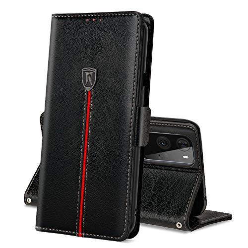 OnePlus 9 Pro Custodia, Flip Custodia in pelle PU Premium Realizzata a Mano con Slot per Scheda, Portafoglio Cover a...