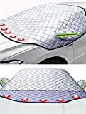 Nnty Gluck Windshield Snow Cover, Car Windshield Frost Protector Cover with 5 Layers Protection, Extra Large Windshield Cover for Ice, Snow, UV and Frost, Fits Most Cars and SUV and Pickup Truck