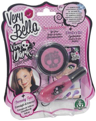 Giochi Preziosi 70150701 - Very Bella Dark Lidschatten und Lipgloss, wasserlösliche Kinderschminke,...