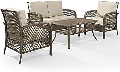 Amazon.com : Marseille Arm Chairs - Pearl : Garden & Outdoor