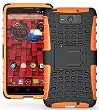 NAKEDCELLPHONE Orange Grenade Rugged TPU Skin CASE Cover Stand for VERIZON Motorola Droid MAXX XT1080M & Droid Ultra XT1080