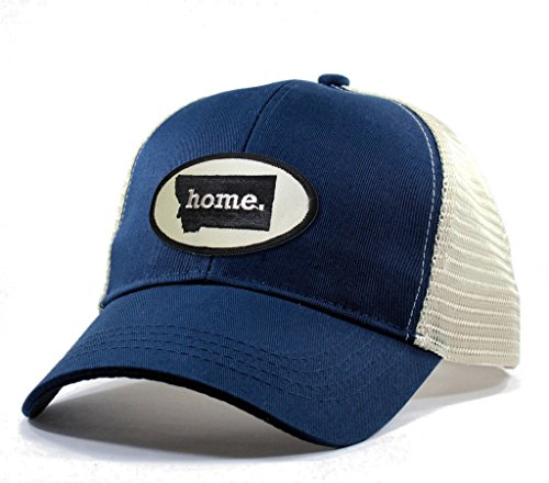 Homeland Tees Men's Montana Home State Trucker Hat Blue