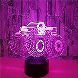 FREEZG lámpara de ilusión 3D Buggy juguete niños 7 Colores Cambio de Botón Táctil y Cable USB para Cumpleaños Navidad Regalos de Mujer Bebes Hombre Niños Amigas [Clase de eficiencia energética A]