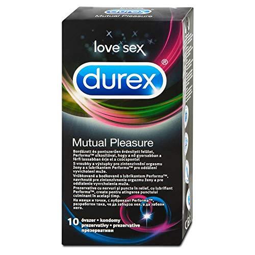Durex Mutual Pleasure Kondome - für einen gemeinsamen Höhepunkt, 1er Pack (1 x 10 Stück)