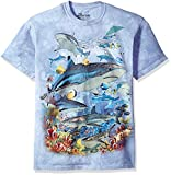 The Mountain Reef Sharks Adult T-Shirt, Blue, Large