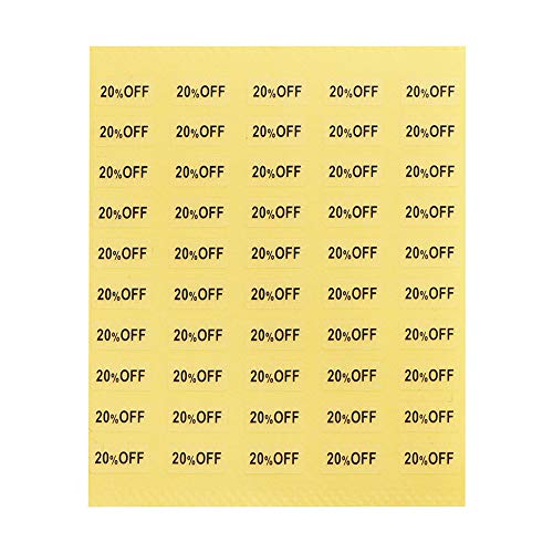 【250枚】台紙用シール イベントシール 10×5mm アクセサリー台紙用 日本製 (20%OFF・透明, 250枚)