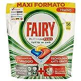 Fairy Platinum Plus - Pastillas para lavavajillas, limón, 56 cápsulas