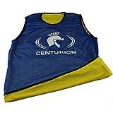 CENTURION centurin Malla Reversible Entrenamiento Babero, Color Azul/Amarillo, XL