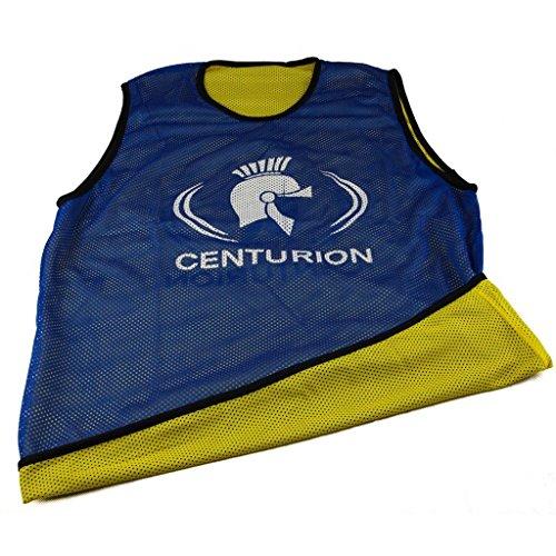 Centurion - Pettorina double-face da allenamento, in tessuto traforato, Multicolore (Blue/Yellow), M
