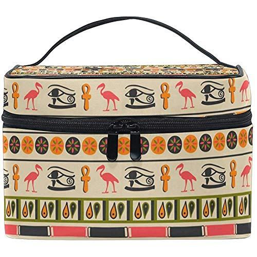 Ornement égyptien sac cosmétique voyage maquillage train cas stockage organisateur