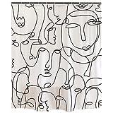 Ofat Home Gay Pride Regenbogen-Flagge Duschvorhang, künstlerische abstrakte LGBT-Flagge & japanische The Great Wave Painting, Love Wins Gender Freedom Badezimmer Gardinen 182,9 x 213,4 cm