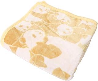 昭和西川 生活応援プライス ◆春も使える パンダ毛布◆ ニューマイヤー 毛布 ボリューム 1.5kg CUORE 直営限定ブランド クオーレ (パンダ,イエロー)