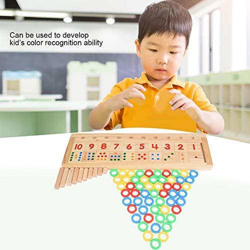 Jimdary Rompecabezas para bebés, Colorido, ecológico, Seguro, no tóxico, Reutilizable y Duradero, número de Madera, para bebés