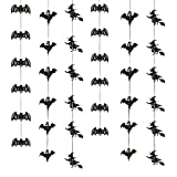 Halloween Hanging Decorations: Garland with Bats,...
