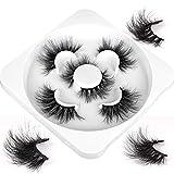 Mink Lashes Faux Fluffy Wispy Dramatic False Eyelashes 3 Styles High Volume Luxury Fake Lashes Soft Handmade Reusable Lashes Pack