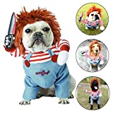 1.Material: Funny Halloween dog costume, Outer material:polyester; inner material: Fleece,soft and durable,keep your dog feel comfortable all the day. 2.Features: stylish, Funny, soft and durable, Headgear, easy to put on and take off, machine washab...