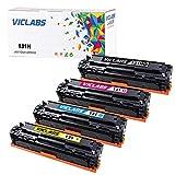VicLabs Compatible LBP7110CW Toner Cartridge, Replacement for Canon 131H LBP7110CW MF624CW MF628CW MF8280CW Toner(Canon 131 Black, Canon 131 Cyan, Canon 131 Yellow, Canon 131 Magenta-4Pack)