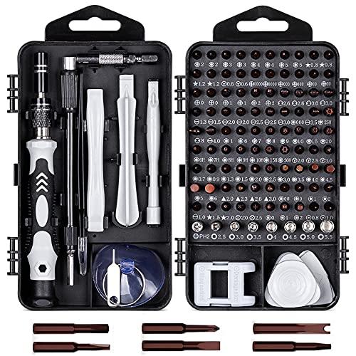 YUHIAKE 117 in 1 Magnetische Präzisions-schraubendreher Set S2-Stahl Bit, Mini Feinmechaniker Schraubenzieher Werkzeug für iphone,Handy,PC,Brillen