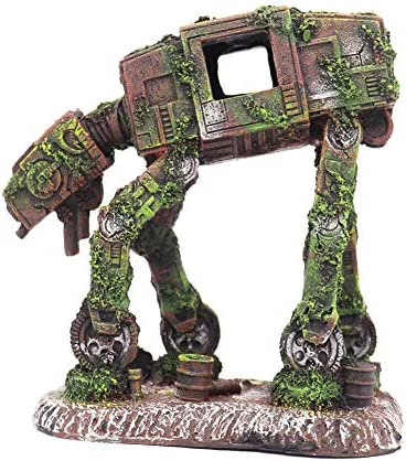 Ulifery Robot Dog Cool Walking Land Tank Aquarium Ornament Fish Tank Decorations for Betta Small product image