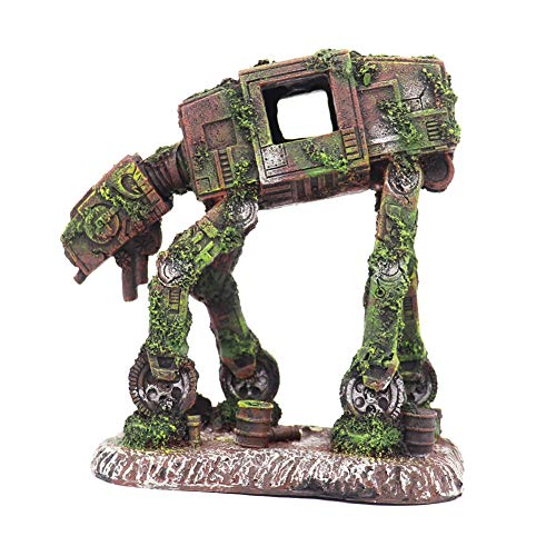 Ulifery Robot Dog Cool Walking Land Tank Aquarium Ornament Fish Tank Decorations for Betta