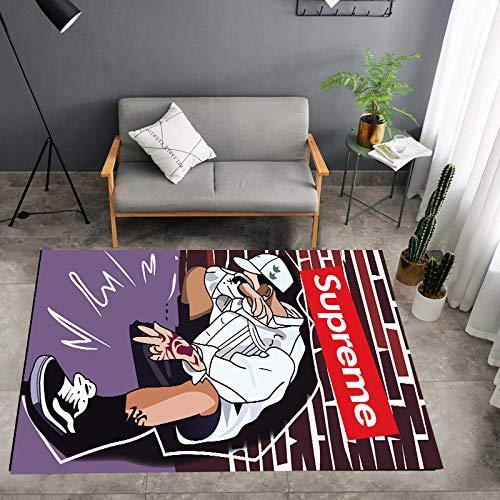 Duvetset tapijten voor woonkamer, 200 x 300 cm, antislip tapijt, katoen, tapijt voor slaapkamer, wasbaar, decoratie voor thuis, modern