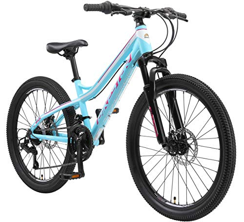 BIKESTAR Kids Mountain bike aluminium 24 Inch 10-13 years | Children youth...