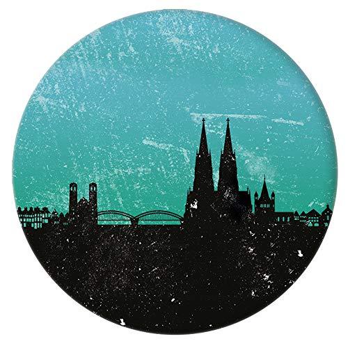 Kunstbruder Kölner Spilla a Bottone – Button con Skyline di Colonia – Diametro 3,8 cm (Diverse Varianti) – Set di 3 o 5 Spille