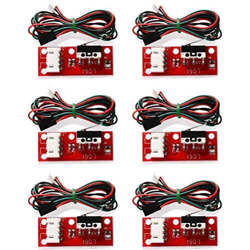 YOTINO 6 Packs 3D PrinterMechanical End Stops with LED Indicators and Wires, Used for RAMPS 1.4, RAMPS 1.5, RAMPS 1.6,Makerbot Prusa Mendel RepRap Mega 2560 1280 CNC Arduino