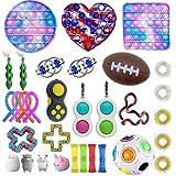 Fidget Toys-Piece Silicona Tie-Dye Push Bubble Toys, Autismo Necesidades Especiales Antiestrés, Apretar Juguete sensorial Aliviar el estrés Emocional para niños Adultos