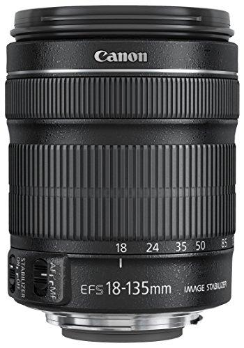 Canon Zoomobjektiv EF-S 18-135mm F3.5-5.6 IS STM für EOS (67mm Filtergewinde, mit STM-Technologie, Bildstabilisator, Autofokus), schwarz