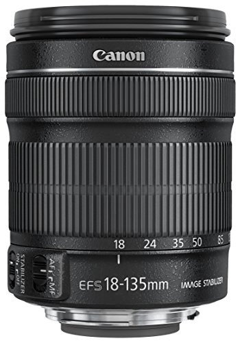 Canon EF-S 18-135mm f/3.5-5.6 IS STM - Objetivo para canon (Distancia Focal 29-216mm, Apertura f/3.5-38, Zoom óptico 7.5X,estabilizador, diámetro: 76.6mm) Negro