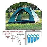 2019 Tents Outdoor Camping Tent 1 4 People Tourist 4 Seasons Family Travel Beach Camp Tent Easy Open Garden Sun Ten,SPTK0B Dark Green