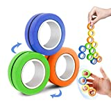 VCOSTORE 3 Pcs Magnetic Ring Fidget Spinner Toy-Stress Relief Decompression Magical Bracelet Ring