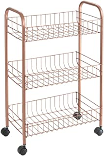 Metaltex USA Copper Polytherm Rolling Cart, One Size