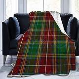 GOSMAO Ultra Soft Micro Fleece Robuste Clan Baxter Tartan Plaid Überwurfdecken Weiche warme Decke Blatt für Bett Bettwäsche Sofa Büro Wohnzimmer 60X80 inch
