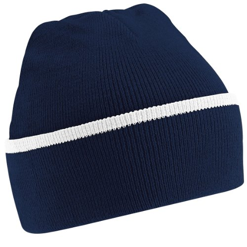 Beechfield - Bonnet - Adulte Unisexe (Taille Unique) (Bleu Marine/Blanc)