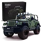Nifeliz Off-Road Pickup Wrange MOC Technique Building Blocks and Engineering Toy, Adult Collectible Model Cars Kits to Build, 1:8 Scale Truck Model (2096 Pieces)