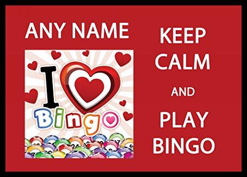 Houd kalm en liefde spelen Bingo Gepersonaliseerde Computer Mousemat