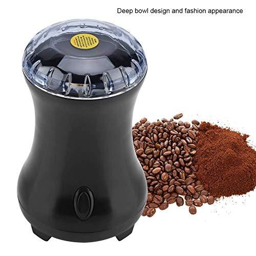 Koffiemolen, 300 W, mini-koffiebonen, slijpmachine, kruidenmolen met roestvrij stalen lemmet, voor koffie, noten, specerijen en meer zwart