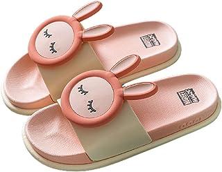 Boy Girl Cute Cartoon Bunny Sandalias Zapatillas Mujer Zapatillas de casa de verano suaves