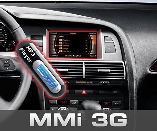 Kufatec 36739-2 Nachrüst-Set Music Interface AMI kompatibel mit Audi A4 8K, A5 8T, A6 4F, A8 4E, Q5 8R & Q7 4L mit MMI 3G