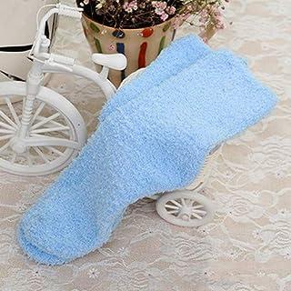 Mujer Chica Otoño Invierno Cálido Calcetines de Las Mujeres Espesar Coral Calcetines de Terciopelo Color sólido Dormir Calcetines